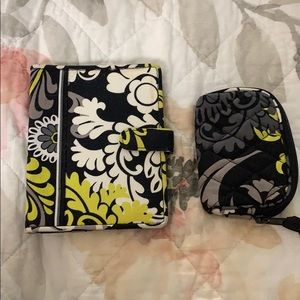 Vera Bradley passport cover and earbuds case